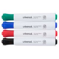 Universal UNV43650 Chisel Tip Desk Style Dry Erase Marker, Color Assortment - 4/Pack