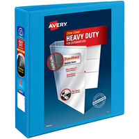 Avery 5501 Light Blue Heavy-Duty Non-Stick View Binder with 2 inch Slant Rings