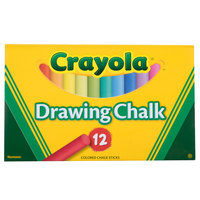 Crayola 510403 12 Assorted Colors Drawing Chalk - 12/Box