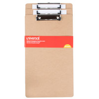 Universal UNV05563 1/2 inch Capacity 14 inch x 8 1/2 inch Brown Hardboard Clipboard - 3/Pack