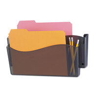 Universal UNV08141 Smoke Plastic Two Pocket Unbreakable 4-in-1 Wall File
