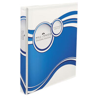 Avery 18601 11 inch x 8 1/2 inch White/Blue Circle Designer Polypropylene View Binder with 1 inch Slant Rings