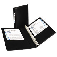 Avery 27257 Black Mini Durable Non-View Binder with 1 inch Round Rings