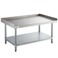 Regency 30 inch x 48 inch 16-Gauge Stainless Steel Equipment Stand with Galvanized Undershelf