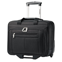 Samsonite 438761041 Classic 16 1/2 inch x 13 1/4 inch x 8 inch Black Top Loader Rolling Laptop Case / Business Case
