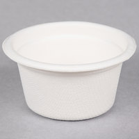 EcoChoice Biodegradable, Compostable Sugarcane / Bagasse 2 oz. Portion Cup   - 1000/Case