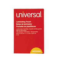 Universal UNV84680 4 3/8 inch x 6 1/2 inch Clear Laminating Pouch - 100/Box