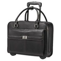 Samsonite 567331041 Women's Mobile Office 16 1/2 inch x 12 3/4 inch x 6 inch Black Vinyl Top Loader Rolling Laptop Case / Business Case