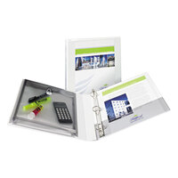 Avery 23000 Protect and Store 11 inch x 8 1/2 inch White Durable Vinyl View Binder with 1 inch Slant Rings