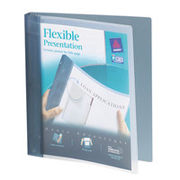 Avery 17676 Gray Flexi-View Binder with 1 inch Round Rings