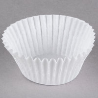White Fluted Baking Cup 2 inch x 1 1/4 inch - 1000/Pack