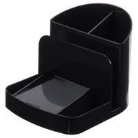 Universal UNV08110 6 3/4 inch x 5 1/2 inch x 5 inch Black 6 Section Plastic Deluxe Organizer / Message Center