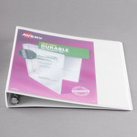 Avery 17012 White Durable View Binder with 1 inch Slant Rings