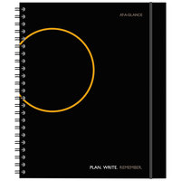 At-A-Glance 70620905 8 9/16 inch x 11 inch Black Planning Notebook with Reference Calendars