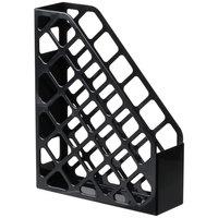 Universal UNV08118 9 inch x 3 inch x 11 1/2 inch Black Recycled Plastic Magazine File