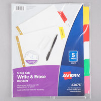 Avery 23076 Big Tab Write & Erase 5-Tab Multi-Color Dividers