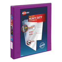 Avery 17294 Purple Durable View Binder with 1 inch Slant Rings