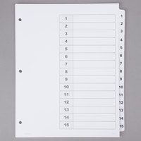 Avery 11142 Ready Index 15-Tab White Table of Contents Dividers