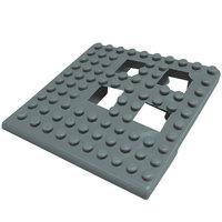 Cactus Mat Dri-Dek 2554-EC Gray 2 inch x 2 inch Interlocking Vinyl Drain Tile Corner Piece - 9/16 inch Thick