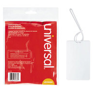 Universal UNV84660 2 1/2 inch x 4 1/4 inch Clear Laminating Pouch with Loop Attachment - 25/Pack