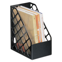 Universal UNV08119 9 1/2 inch x 6 1/4 inch x 11 3/4 inch Black Large Recycled Plastic Magazine File