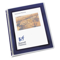 Avery 15766 Navy Blue Flexi-View Binder with 1/2 inch Round Rings