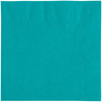 Choice 10 inch x 10 inch Teal 2-Ply Beverage / Cocktail Napkins - 250/Pack