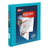 Avery 17295 Aqua Durable View Binder with 1 inch Slant Rings