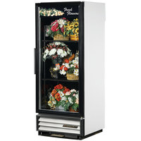 True GDM-12FC-HC-LD 25 inch White Glass Door Floral Case