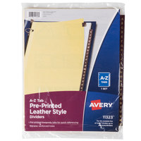 Avery 11323 Pre-Printed Red Leather 25-Tab A-Z Dividers
