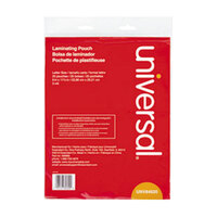 Universal UNV84620 9 inch x 11 1/2 inch Clear Laminating Pouch - 25/Pack