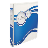 Avery 18607 11 inch x 8 1/2 inch White/Blue Circle Designer Polypropylene View Binder with 2 inch Slant Rings