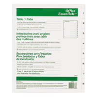 Avery Office Essentials 11668 Table 'n Tabs White 8-Tab Dividers