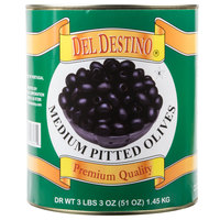 #10 Can Medium Pitted Black Olives - 6/Case