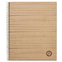 Universal UNV66208 11 inch x 8 1/2 inch Natural 1 Subject Sugarcane Based College Ruled Notebook - 100 Sheets