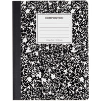 Universal UNV20940 9 3/4 inch x 7 1/2 inch Black College Ruled Composition Notebook - 100 Sheets