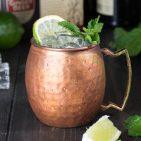 American Metalcraft ACMH 14 oz. Hammered Antique Copper Moscow Mule Mug