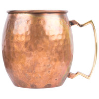 American Metalcraft ACMH 12 oz. Antique Copper Moscow Mule Mug with Antique Hammered Copper Finish