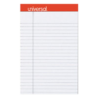 Universal UNV35892 5 inch x 8 inch Legal Rule Gray Perforated Note Pad - 6/Pack