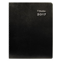 Blueline C23021T 7 1/8 inch x 8 7/8 inch Black December 2018 - January 2020 Duraglobe 14-Month Soft Corinth Cover Planner