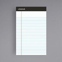 Universal UNV56300 5 inch x 8 inch Narrow Rule White Premium Writing Pad - 6/Pack