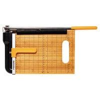 Fiskars 01005744 Bypass Bamboo 23 5/16 inch x 10 15/16 inch 15 Sheet Guillotine Paper Trimmer