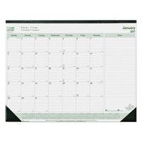 Brownline C177437 EcoLogix 22 inch x 17 inch Monthly January 2019 - December 2019 Desk Pad Calendar