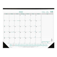 Brownline C177437 EcoLogix 22 inch x 17 inch Monthly January 2020 - December 2020 Desk Pad Calendar