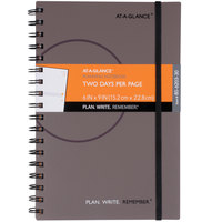 At-A-Glance 80620330 6 inch x 9 inch Gray Two Day Per Page Planning Notebook