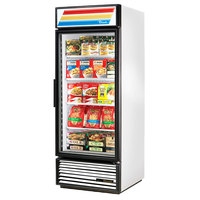 True GDM-26F-HC~TSL01 30 inch White Glass Door Freezer Merchandiser with LED Lighting