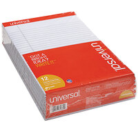 Universal UNV35884 Legal Rule Orchid Perforated Note Pad, Letter - 12/Pack