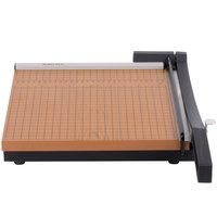 X-Acto 26612MR 12 inch Square 10 Sheet Commercial Guillotine Paper Trimmer with Wood Base