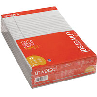 Universal UNV35881 Legal Rule Gray Perforated Note Pad, Letter - 12/Pack