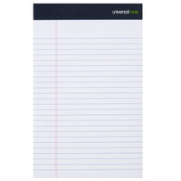 Universal UNV57300 5 inch x 8 inch Legal Rule White Premium Writing Pad - 12/Pack